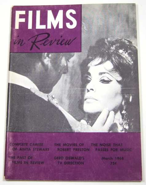 Image for Films in Review (March, 1968)