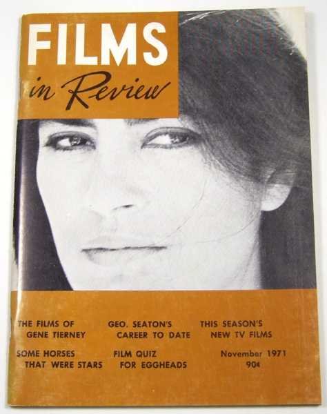 Image for Films in Review (November, 1971)