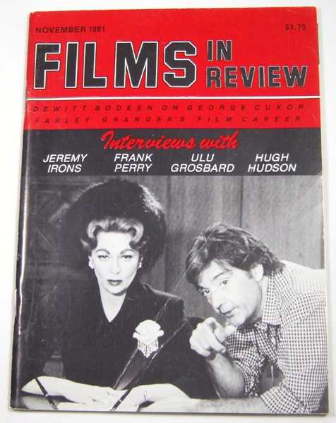 Image for Films in Review (November, 1981)
