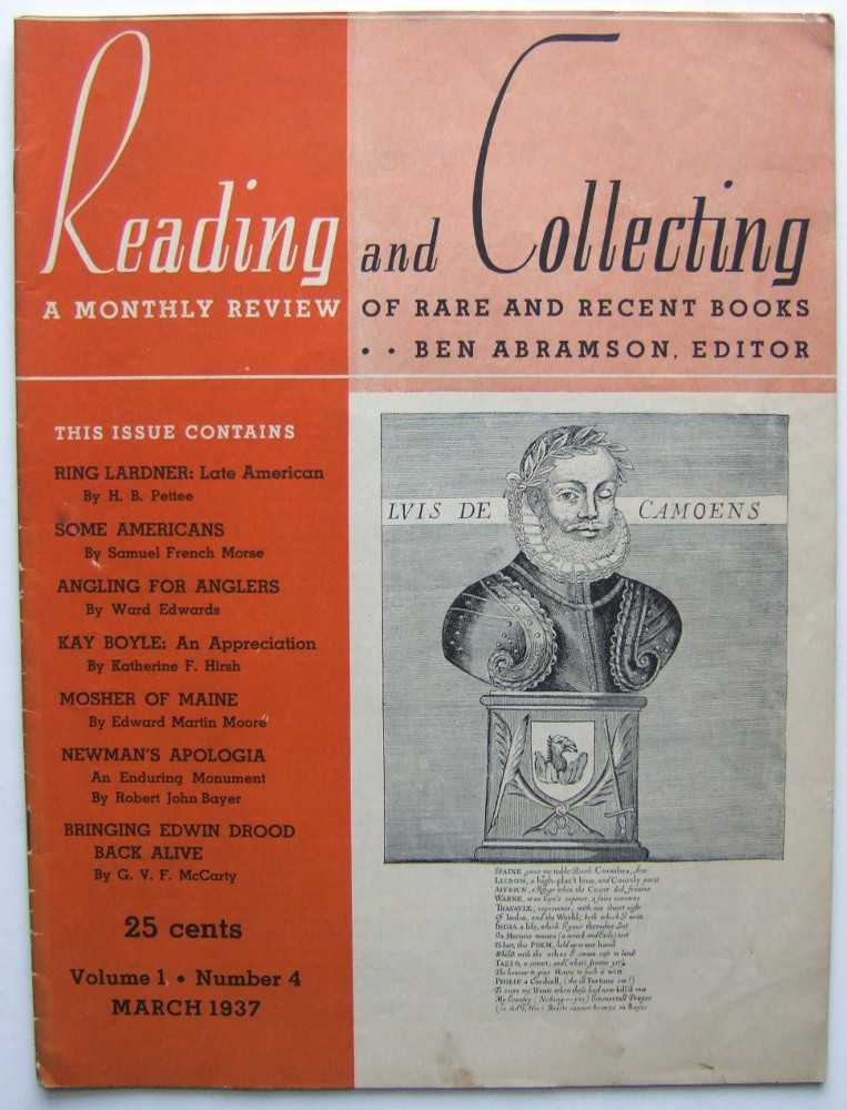Image for Reading and Collecting: A Monthly Review of Rare and Recent Books (March 1937, Volume 1, #4)