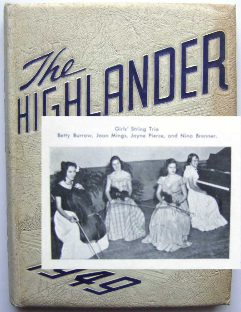 Image for Jayne Mansfield Junior Yearbook (The Highlander: 1949 Highland Park High School, Dallas, Texas)
