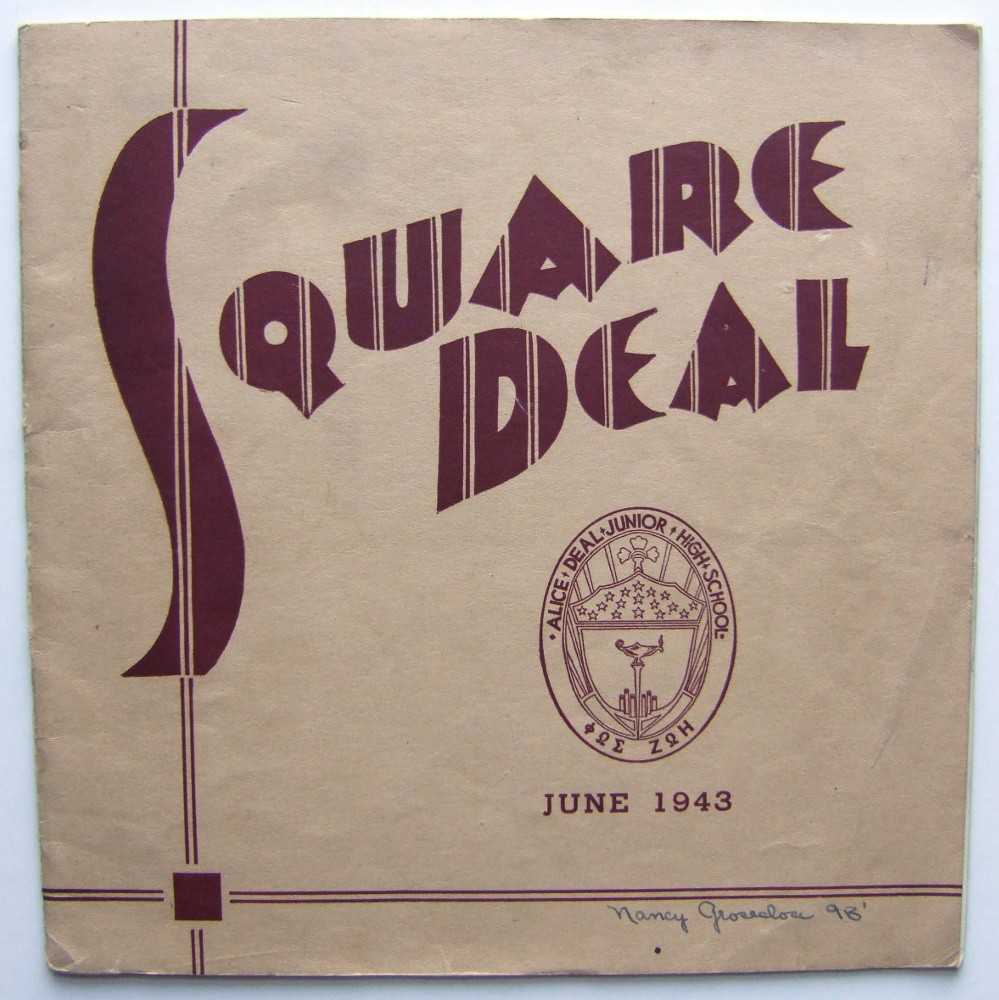 Image for Square Deal, Alice Deal Junior High School, Washington, D. C. (School Magazine, June 1943)