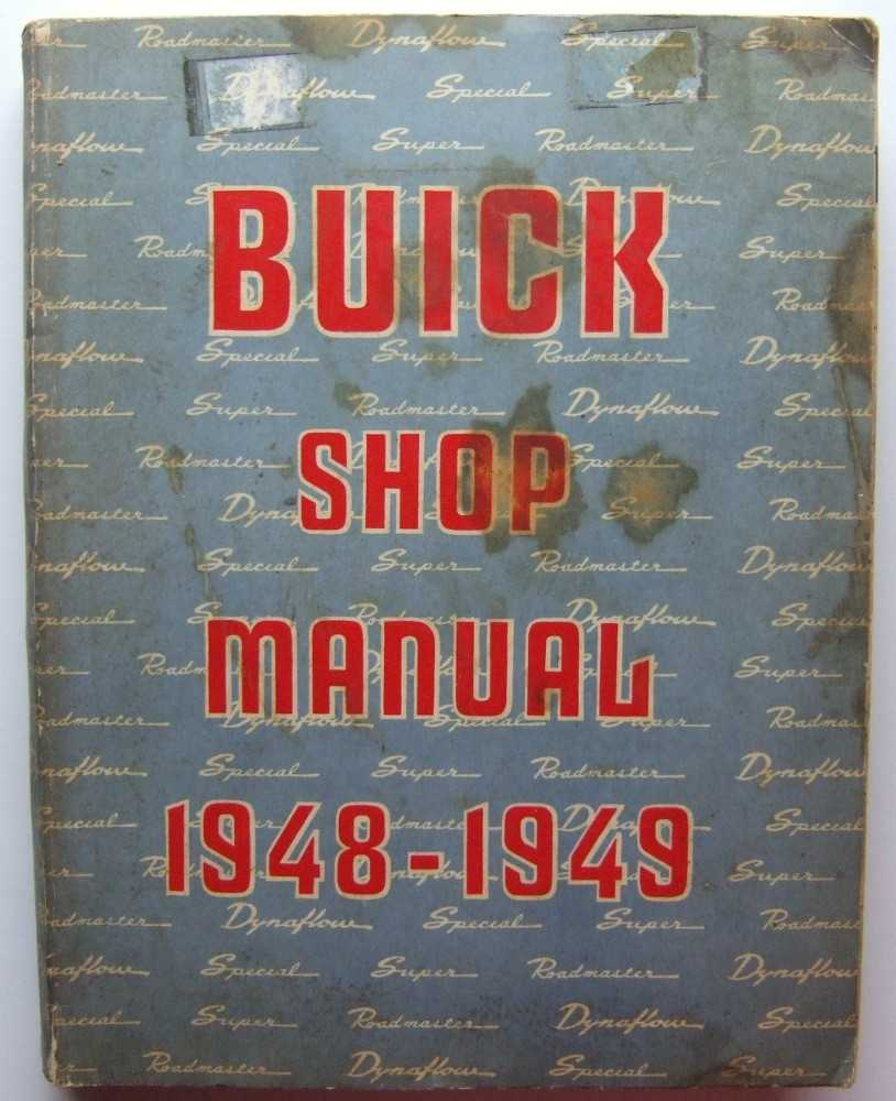Image for Buick Shop Manual, 1948-1949; covering 1948 Series 40-50-70 and 1949 Series 50-70