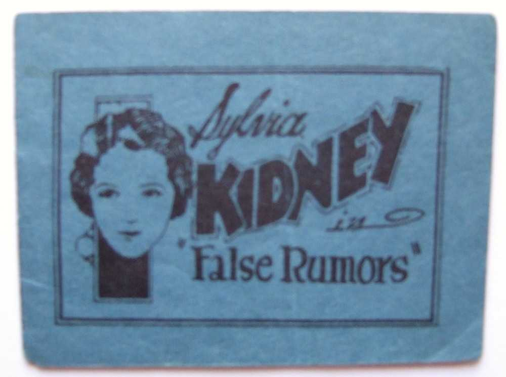 "Image for Sylvia Kidney (Sylvia Sidney) in ""False Rumors"" (Tijuana Bible, 8-Pager)"