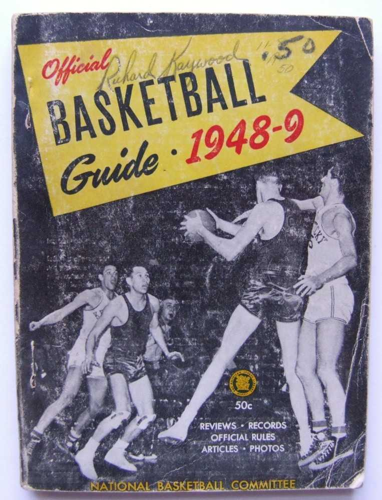 Image for The Official National Basketball Committee Basketball Guide, Including the Official Rules, 1948-1949