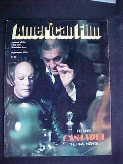 Image for American Film (September, 1976, Volume 1, #10)