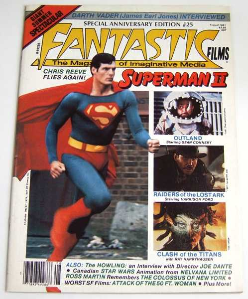Image for Fantastic Films: The Magazine of Fantasy and Science Fiction in Cinema #25 (August, 1981, Volume 4, #1)