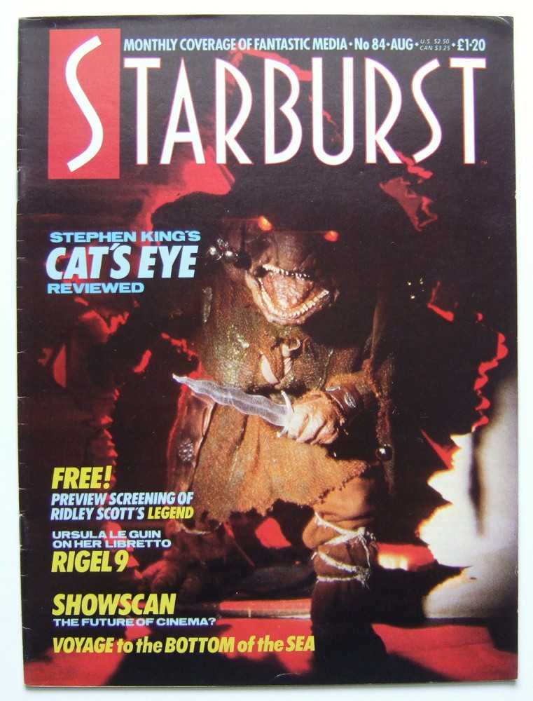 Image for Starburst: The Magazine of Cinema and Television Fantasy #84 (August, 1985, Volume 7, #12)