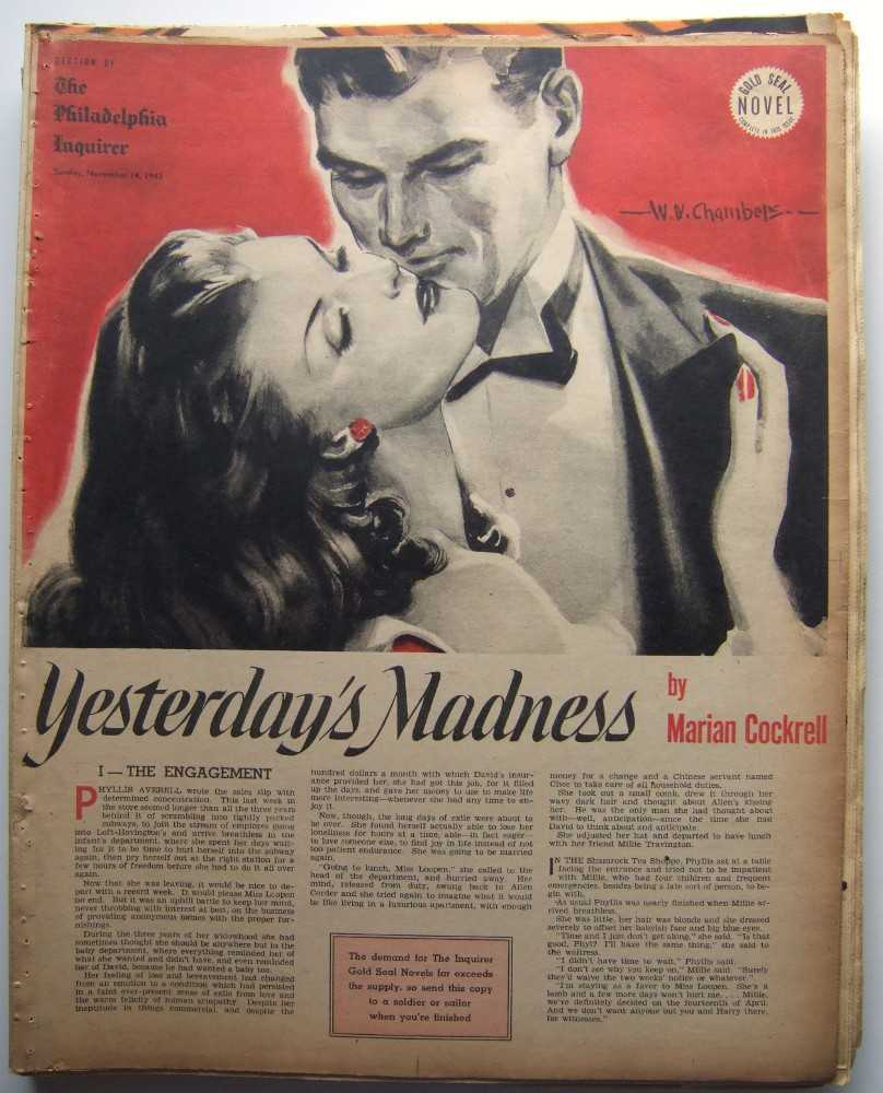 Image for Yesterday's Madness (Gold Seal Novel, presented by the Philadelphia Inquirer, Sunday, November 14, 1943)