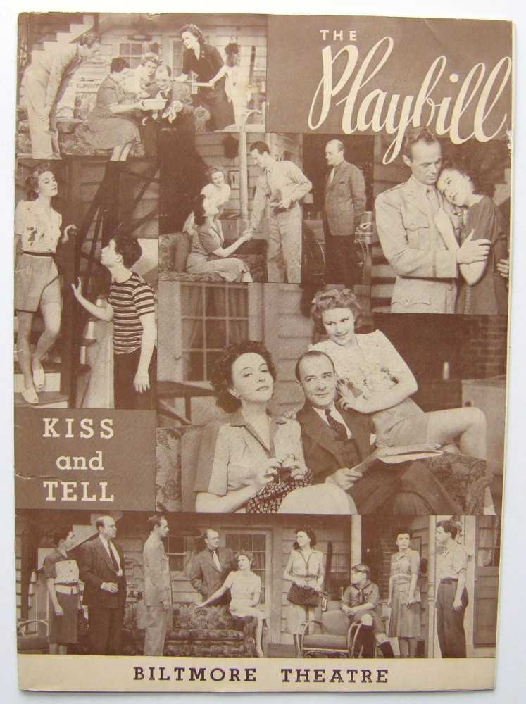 Image for Kiss and Tell: Playbill for the Biltmore Theatre, 1943