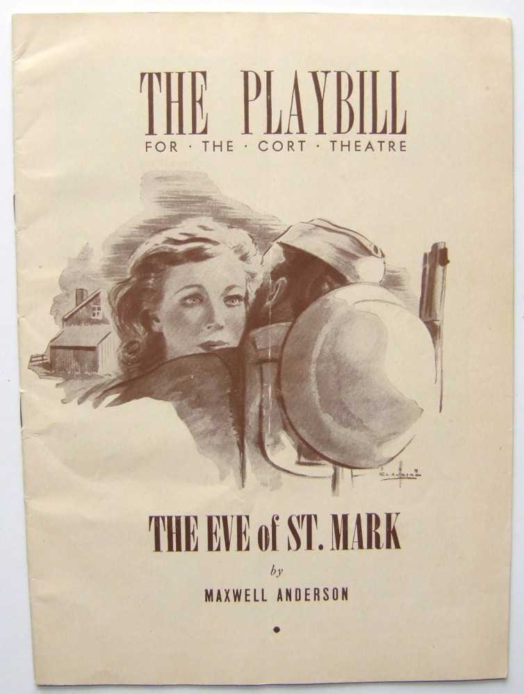 Image for The Eve of St. Mark: Playbill for the Cort Theatre, 1943