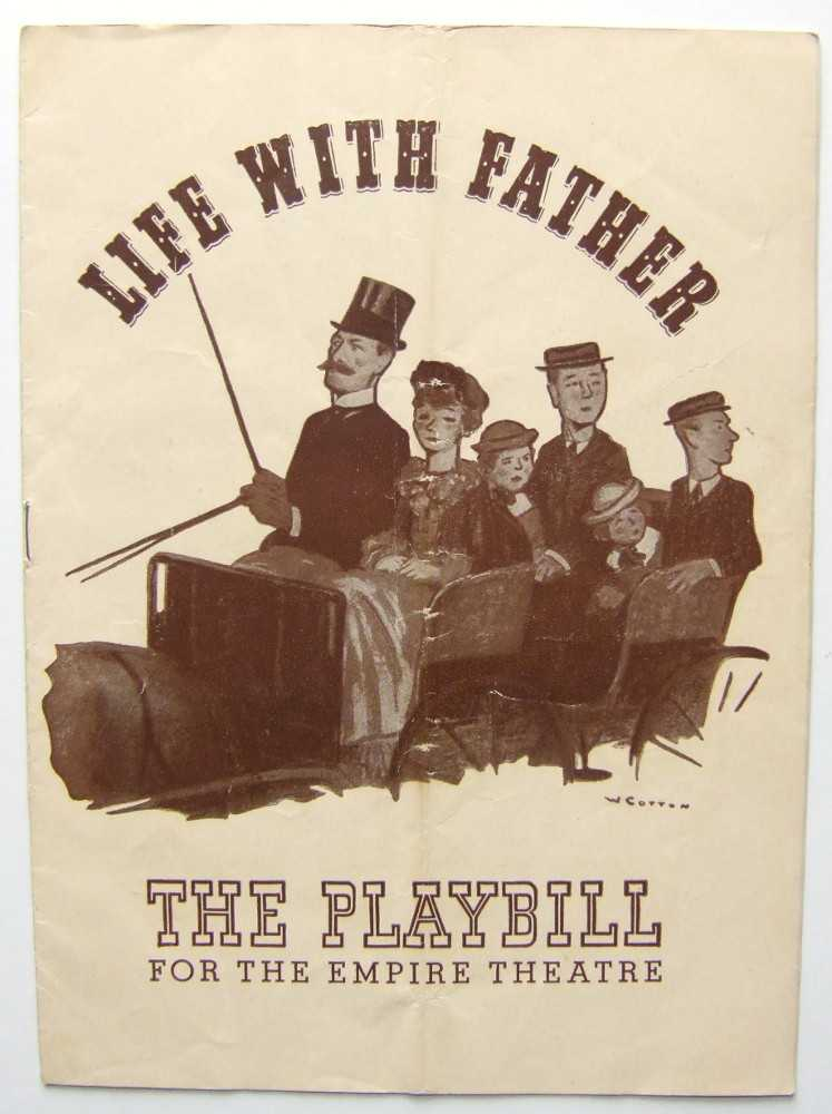 Image for Life With Father: Playbill for the Empire Theatre, 1943