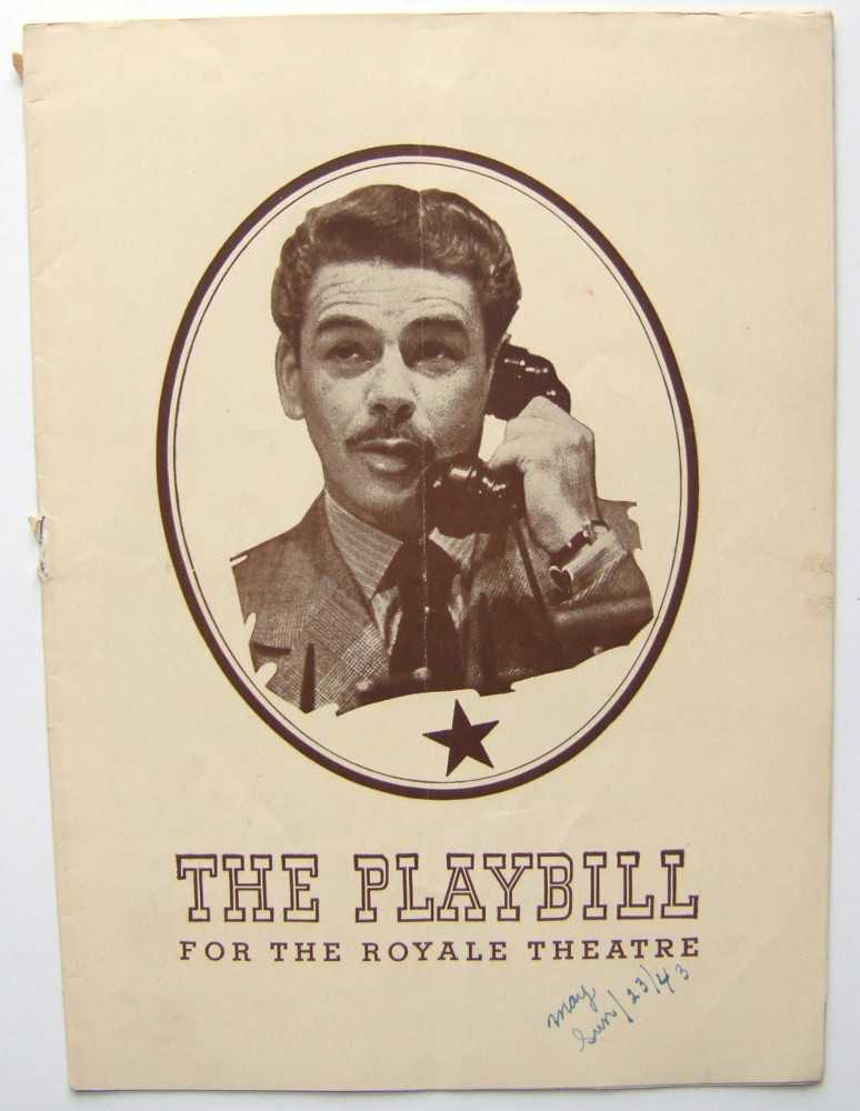Image for Counsellor-At-Law: Playbill for the Royale Theatre, 1943