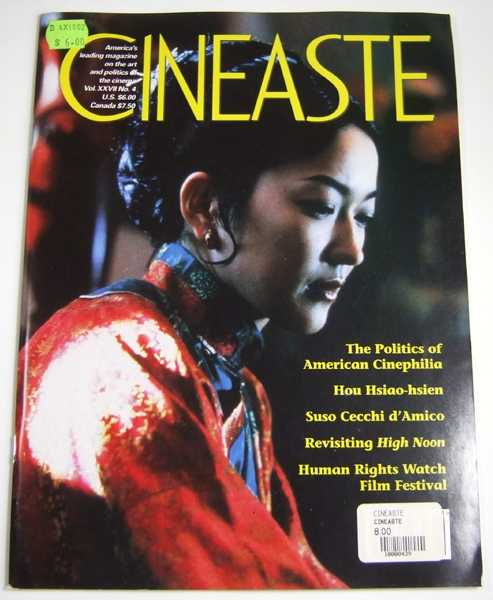 Image for Cineaste (Fall 2002, Volume 27, #4)