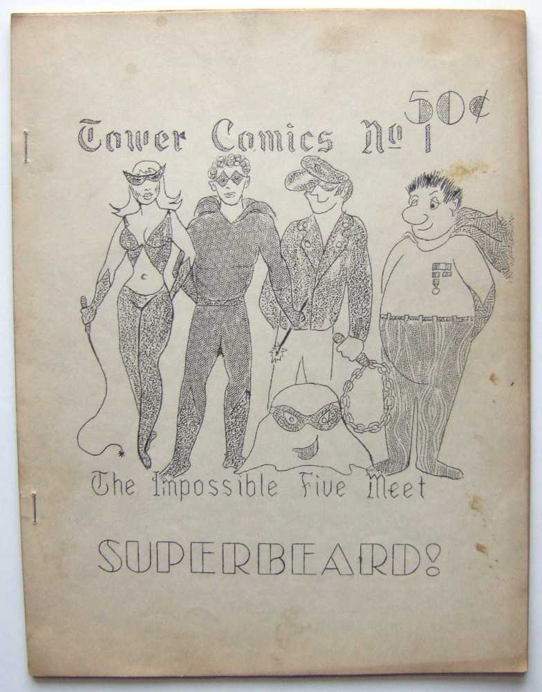 Image for Tower Comics, No. 1: The Impossible Five Meet Superbeard! (Mimeo 'zine / Underground Comic, March, 1964)