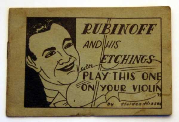 "Image for Rubinoff and His Etchings in ""Play This One on Your Violin"" by Holden Hiss (Tijuana Bible, 8-Pager)"