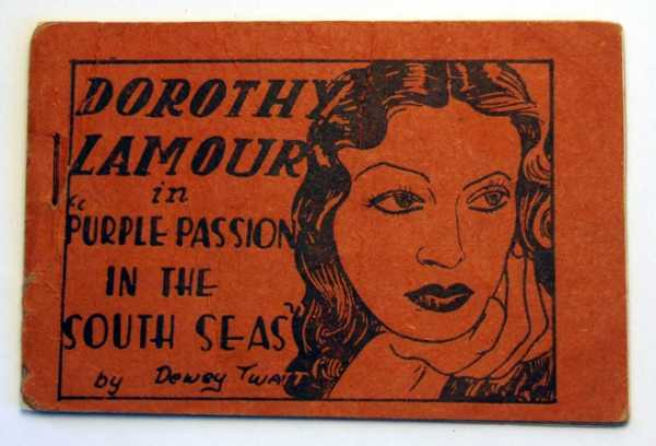 "Image for Dorothy Lamour in ""Purple Passion in the South Seas"" by Dewey Twatt (Tijuana Bible, 8-Pager)"
