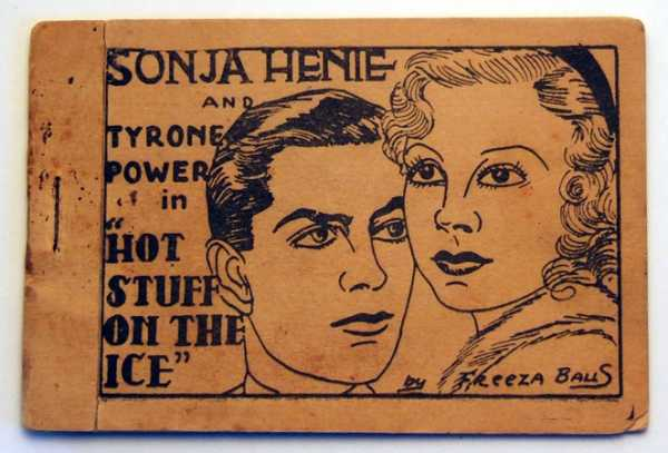"Image for Sonja Henie and Tyrone Power in ""Hot Stuff on the Ice"" by Freeza Balls (Tijuana Bible, 8-Pager)"