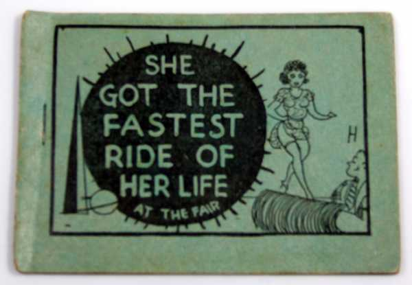Image for She Got the Fastest Ride of Her Life at the Fair (1939 World's Fair) (Tijuana Bible, 8-Pager)