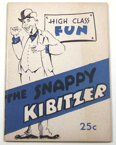 "Image for The Snappy Kibitzer: ""High Class"" Fun (Joke Book)"