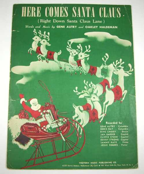 Image for Here Comes Santa Claus (Right Down Santa Claus Lane) [Sheet Music]