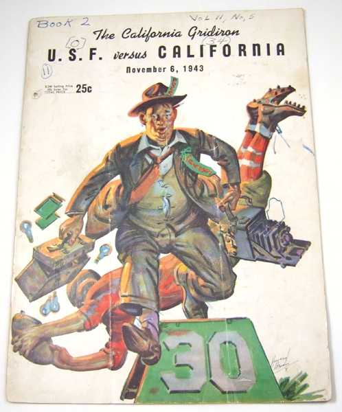 Image for The California Gridiron: U.S.F. vs. California, November 6, 1943 (Football Program)