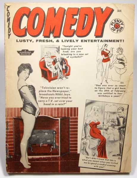 Image for Comedy: Lusty, Fresh, & Lively Entertainment (Volume 8, #45, January 1959)