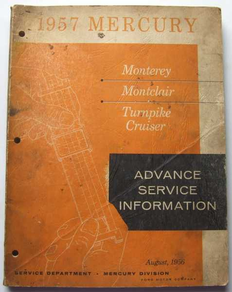 Image for 1957 Mercury Advance Service Information (Monterey; Montclair; Turnpike cruiser)
