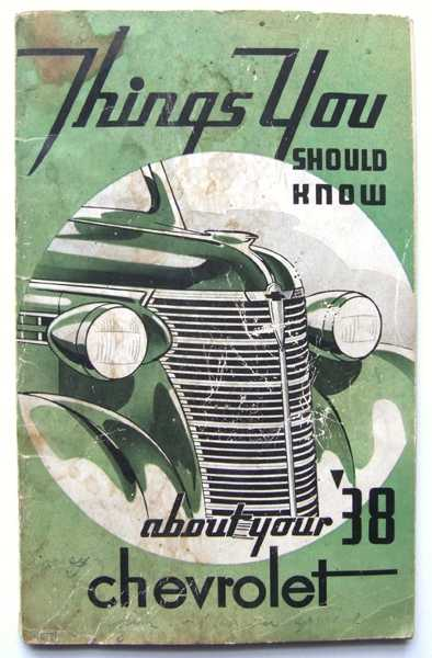 Image for Things You Should Know About Your 1938 Chevrolet