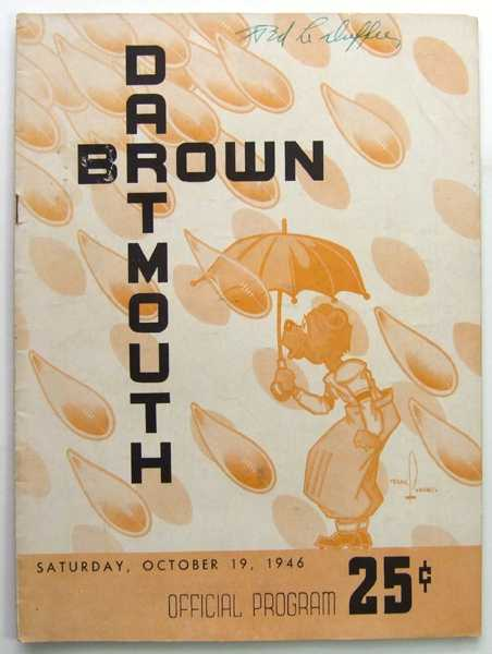 Image for Dartmouth vs. Brown: Official Football Program (Sunday, October 19, 1946)