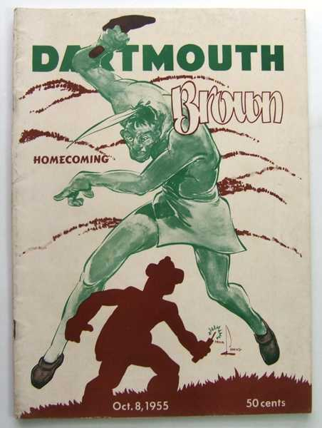 Image for Dartmouth vs. Brown: Official Football Program (October 8, 1955)