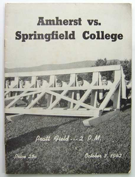 Image for Amherst vs. Springfield College: Official Football Program (October 3, 1942)