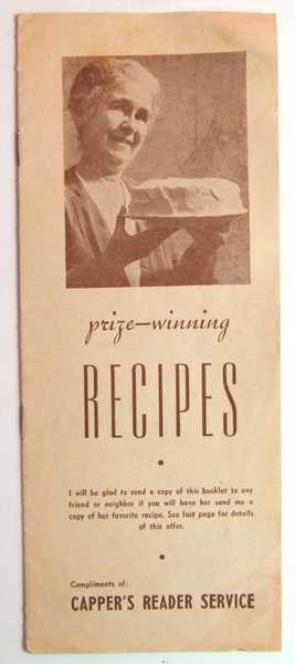 Image for Prize-winning Recipes (Promotional Cook Book)