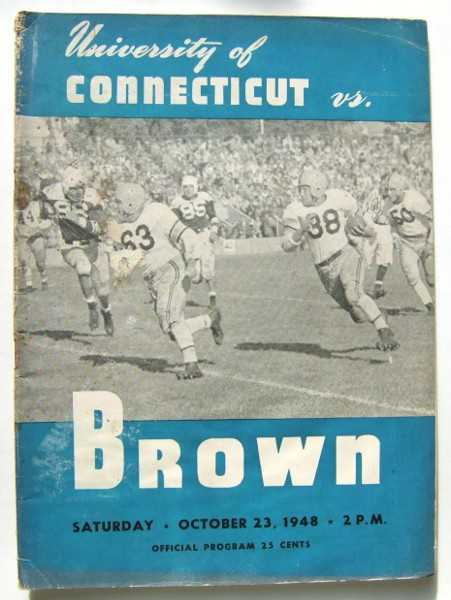 Image for University of Connecticut vs. Brown (Football Program, October 23rd, 1948)