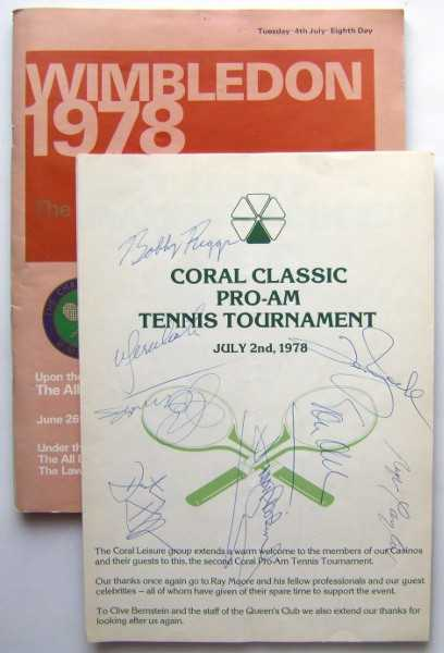 "Image for Wimbledon 1978: The Lawn Tennis Championships, Tuesday 4th July, Eighth Day (SIGNED ""Official Souvenir Programme"" / program and extras)"
