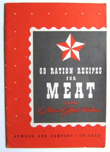 Image for 69 Ration Recipes for Meat From Marie Gifford's Kitchen (Promotional Cook Book)