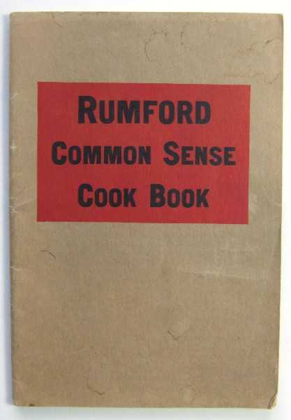Image for Rumford Common Sense Cook Book (Promotional Cook Book)