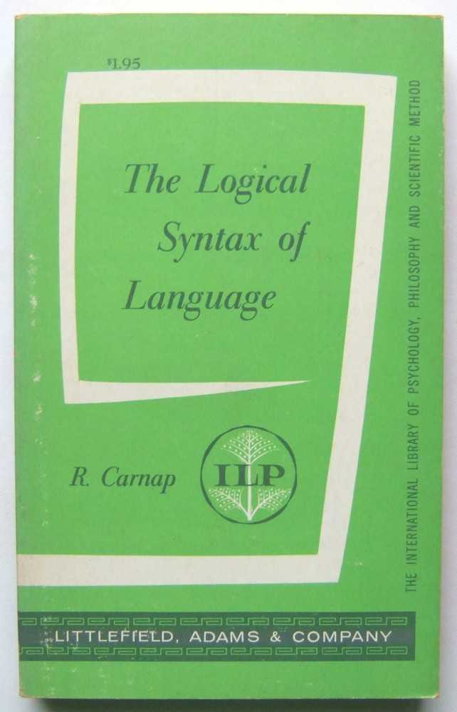 Image for The Logical Syntax of Language