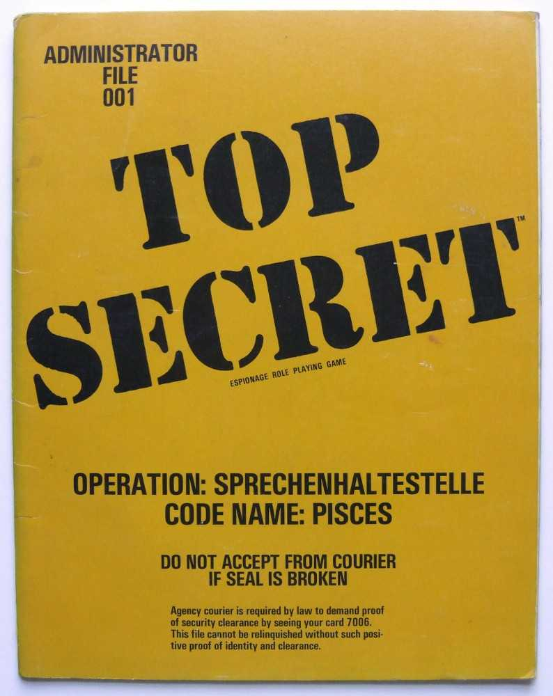 Image for Operation Sprechenhaltestelle, Code Name: Pisces (Top Secret Administrator File 001)