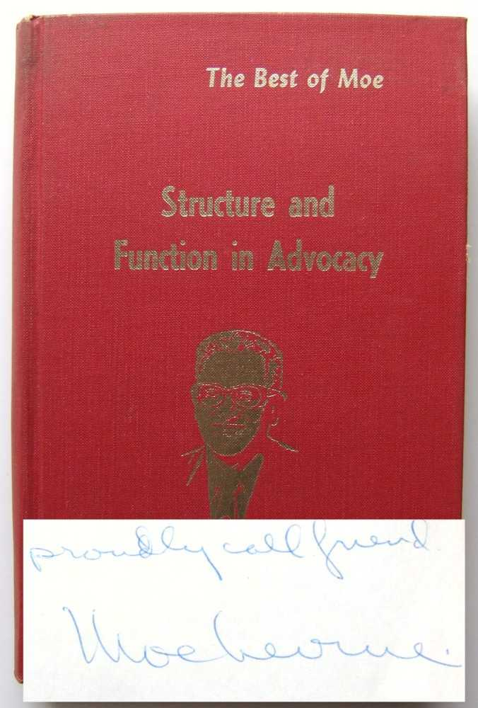 Image for Structure and Function in Advocacy (The Best of Moe)