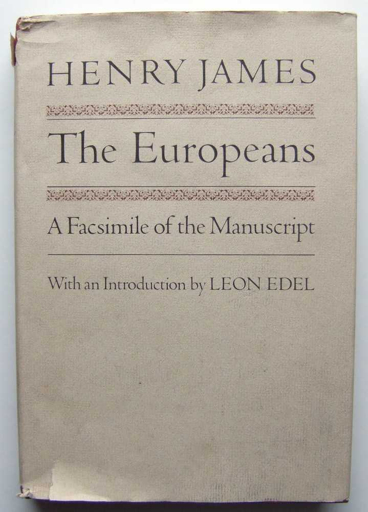 Image for The Europeans: A Facsimile of the Manuscript
