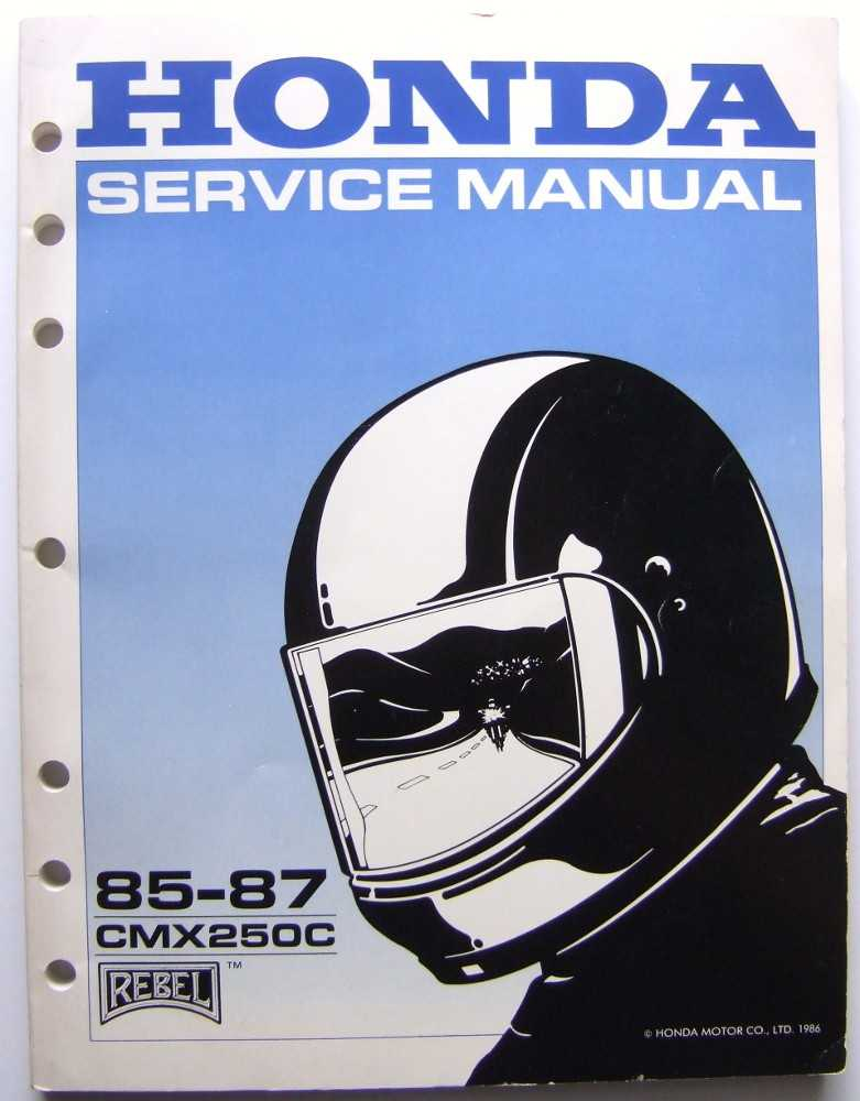Image for Honda Service Manual, 85-87 CMX250C Rebel