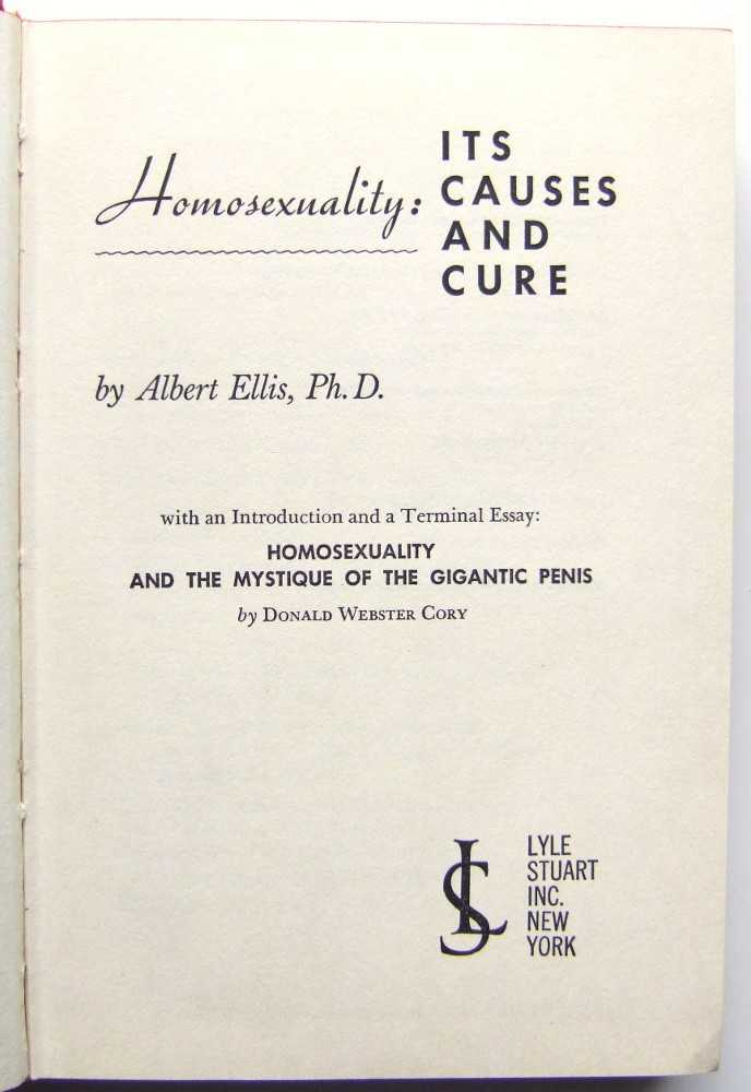 Image for Homosexuality: Its Causes and Cure