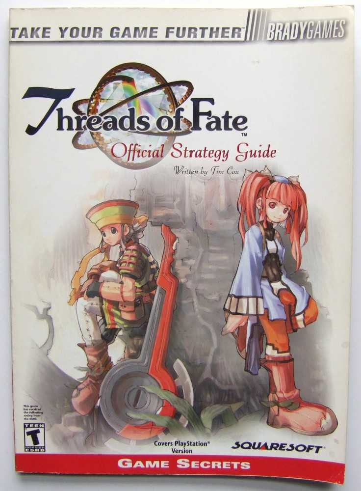 Image for Threads of Fate Official Strategy Guide (Video Game Books)