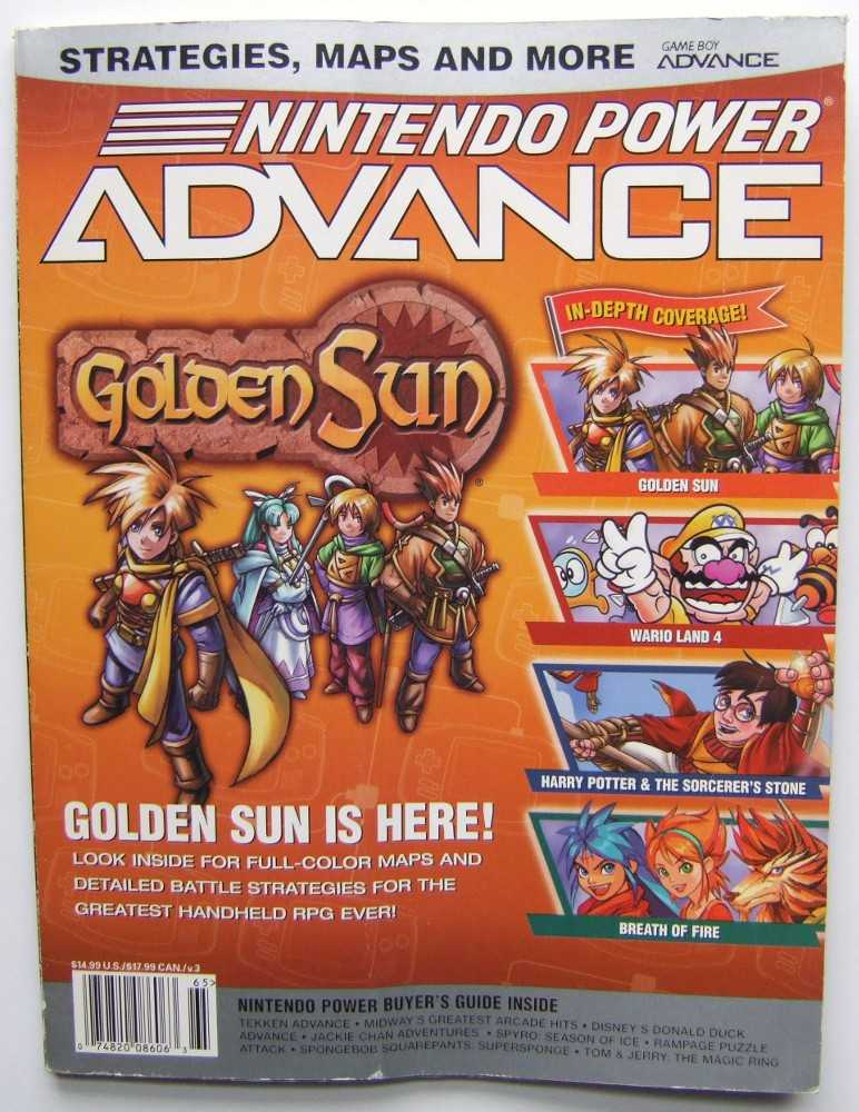 Image for Nintendo Power Advance: Golden Sun, GBA (Nintendo Power Advance)